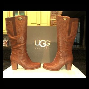 UGG Ashur Leather Knee Boot. Size 8.5